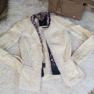 Veda leather silk jacket